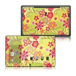 Hippie Flowers Hot Pink Design Protective Decal Skin