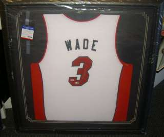 AUTOGRAPHED SIGNED FRAMED JERSEY MIAMI HEAT  PSA/DNA