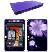 Genuine Leather Case Cover for  Kindle Fire Tablet + Skin