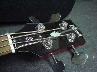 2011 Gibson USA SG Standard Bass Guitar Cherry Red w/Case Short Scale