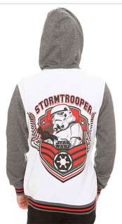 Star Wars Imperial Stormtrooper Varsity Jacket Hoodie Licensed NWT