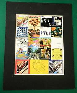 The Beatles Reprint Signed Album Cover Display