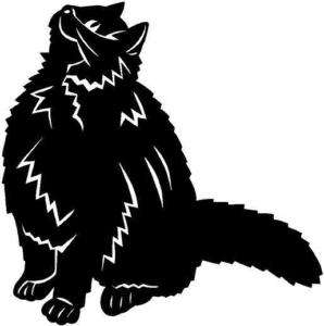 Fat Cat Vinyl Decal Car Truck Boat Sticker 2