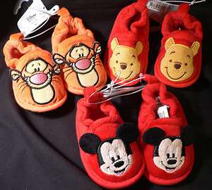 2011~Infant Slippers~Costume~MicKeY MoUsE~WiNNie PooH~TiGGeR~NWT