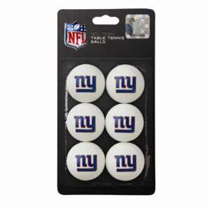 New York Giants NFL Table Tennis Balls 6pc  Sports