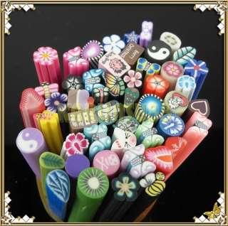 Set B 50 FIMO Clay rod stick NAIL ART Decorations