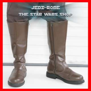 Star Wars JEDI BOOTS BROWN Quality + Value NEW Costume
