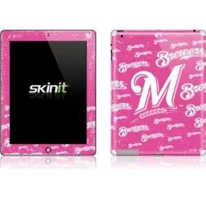 Skinit Milwaukee Brewers   Pink Cap Logo Blast Vinyl Skin
