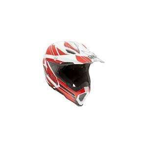 Road Motorcycle Helmet White/Red Small AGV SPA   ITALY 7511O2C0002005