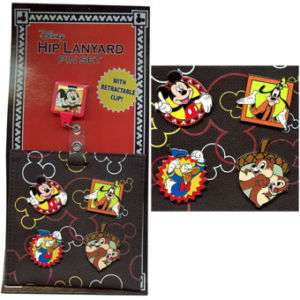 Disney MICKEY & FRIENDS * 4 pin Clip & Hip Lanyard Set
