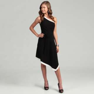London Times Womens One shoulder Dress  Overstock