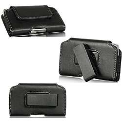 Premium Apple iPhone 4/ 4S Horizontal Leather Pouch with Swivel Belt