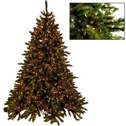 Faux 12 foot Super Bright Premium Clear Bulb Pre lit Christmas Tree