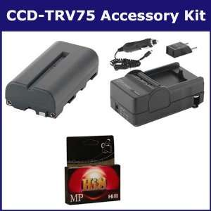 Sony CCD TRV75 Camcorder Accessory Kit includes HI8TAPE Tape/ Media