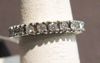 BEAUTIFUL ESTATE ETERNITY DIAMOND WEDDING RING ELEGANT
