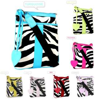 Women Lady Zebra Print Messenger Satchel Shoulder HandBags Cross body