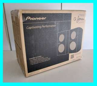 PIONEER SP BS21 LR 80w 2 WAY BOOKSHELF SPEAKERS NEW PAIR