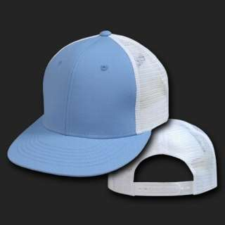 SKY BLUE WT 6 PANEL MESH TRUCKER BASEBALL CAP HAT CAPS
