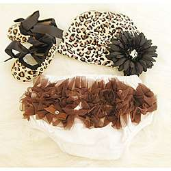 Cheetah Print Baby Girls Gift Set