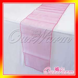 Hot Pink Organza Table Runner Wedding Party Decoration