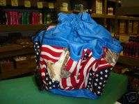 BINGO BAG SALE WITH FLAG/EAGLE DESIGN BLUE
