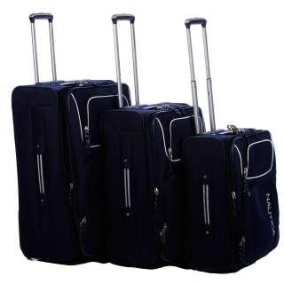 Nautica Steward Navy / White 4 piece Luggage Set