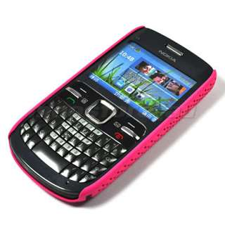 HARD RUBBER CASE BACK COVER POUCH FOR NOKIA C3 PINK