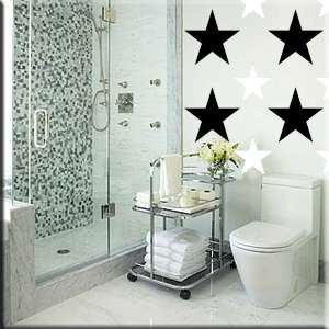 34 One inch Stars Vinyl Wall Decor Stickers