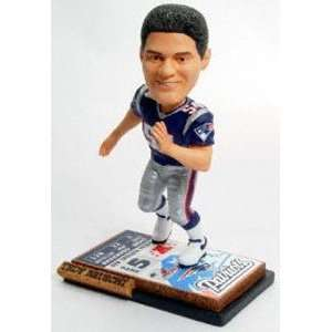 Tedy Bruschi Ticket Base Forever Collectibles Bobblehead