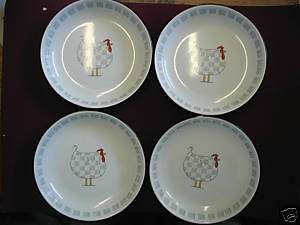 BLUE SKY ROOSTER 8 PASTA PLATES SET Lot(4)Nice NEW