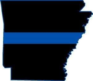 Thin Blue Line 4 x 4.5 State of Arkansas Decal