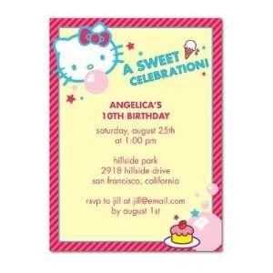 Birthday Party Invitations   Hello Kitty Bubblegum Bubbles By Sanrio