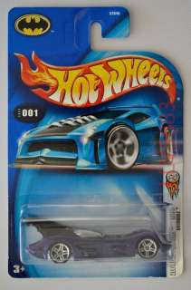 Bat mobile Hot Wheels Blue Card 2004 #001 First Editions 1/100 ~ B3540