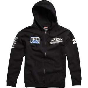SHIFT CASUALS TEAM TWO TWO ZIP UP HOODY BLACK SM