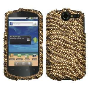 Tiger Crystal Diamond BLING Hard Phone Case Cover Huawei AT&T Impulse