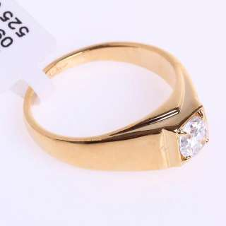 18k Yellow Gold Plated Crystal Ring  90384