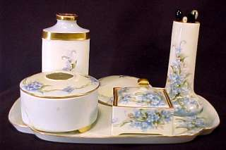 Vintage Noritake Nippon Dresser Set 8pc Tray Powder NR