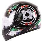 LAS VEGAS RIDER II BLACK MOTORCYCLE HELMET DOT   XL