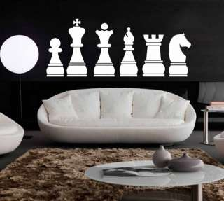 Chess Board Pieces Wall Art Vinyl Sticker Decal Large