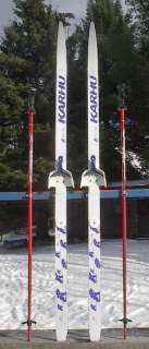 KIDS Cross Country 53 Skis 3 pin 140 cm +Poles Waxless KARHU