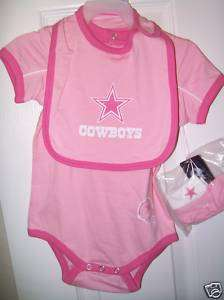 Dallas Cowboys Pink Baby Outfit Set Toddler Girls Size 24 Months NWT