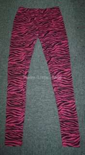 Pink Zebra print leggings tight pants rock punk emo 281