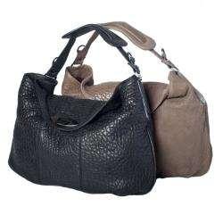 David & Scotti Large Pebble Leather Hobo Bag