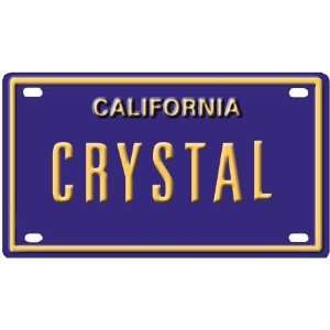 Crystal Mini Personalized California License Plate