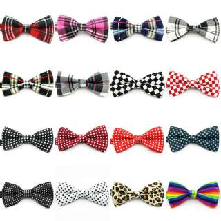 New Mens Bow Tie Necktie Adjustable Pre tied Formal Colorful Plaid