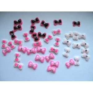 Nail Art 3d 40 Pieces Mix Color Bow /Rhinestone for Nails, Cellphones
