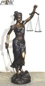 5Ft Large Cast Bronze Outdoor Lady of Justice Statue