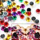 Decoration 2mm Flash Clear Crystal Glitter Rhinestone Nail Art Tips
