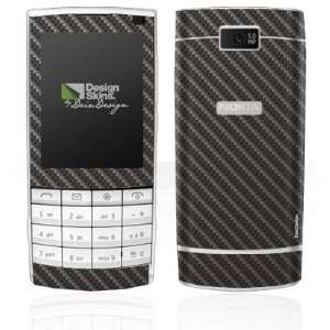 Design Skins for Nokia X3 Touch   Cool Carbon Design Folie