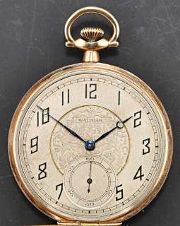 Gold Plated Waltham Pocket Watch Vintage  1923 Runs Well